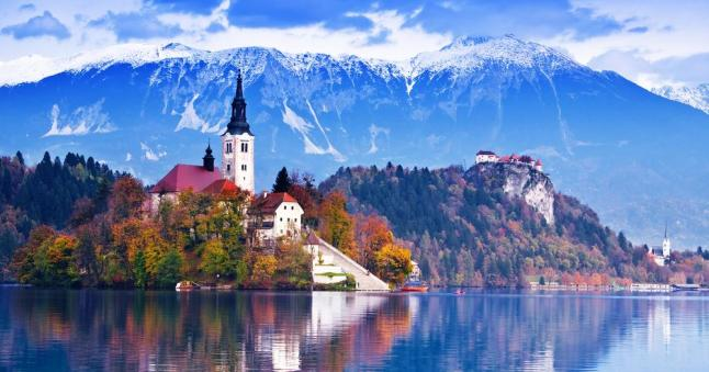 Bled with lake   island